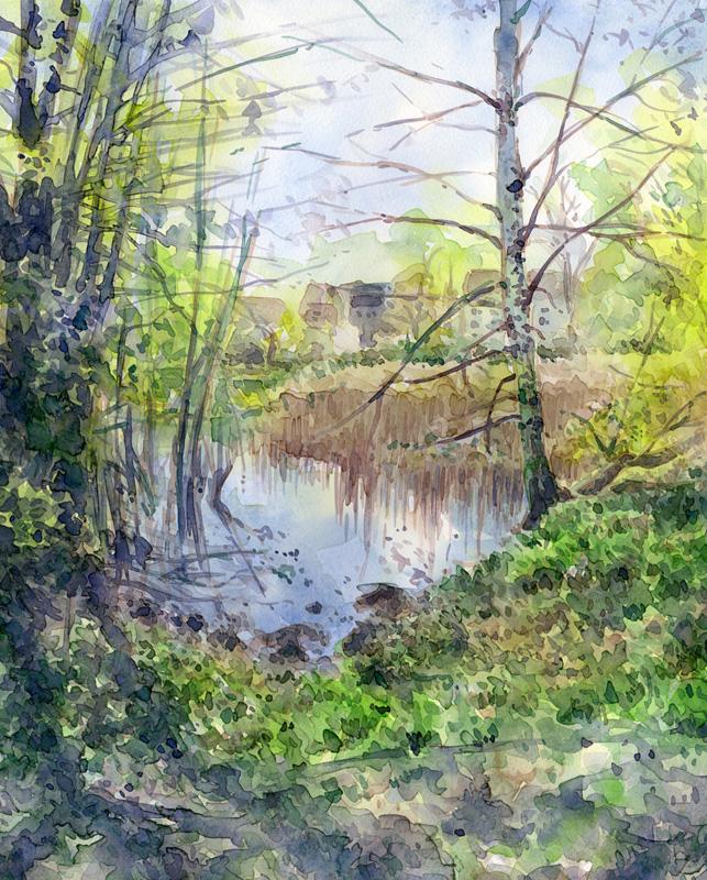 Aquarell Lake Garibaldi